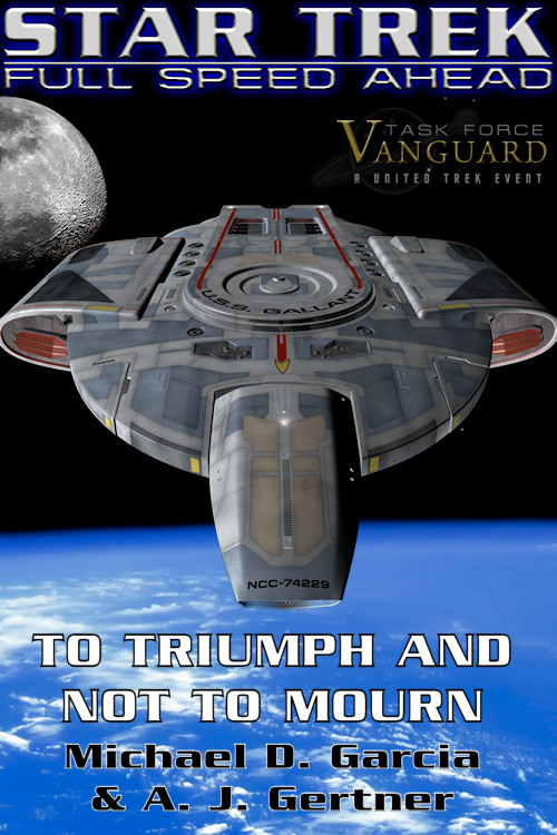 Cover Credits: Defiant-class mesh by Skye Dodds, Gallant hull textures by Steff & Me, Earth & Moon by NASA (public domain), Lettering and layout by me, Task Force Vanguard logo by CeJay.